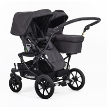 Double Viking 735 (Seat / Carrycot) 29910UKy Lounge Black