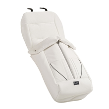 Footmuff de Luxe 40925UK White Leath.