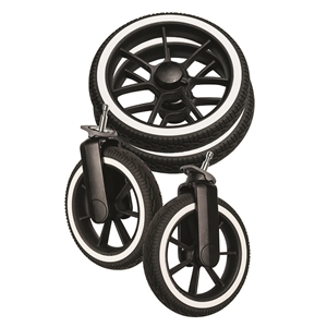 Wheel Package 96083 Black solight /White Duo S, D-Viking (4pc)