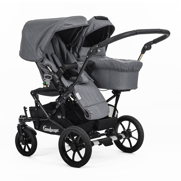 Double Viking 735 (Seat / Carrycot) 29909UKy Lounge Grey