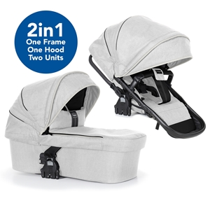 NXT Seat Unit 2in1 37107 NXT 2in1 Carrycot/Seat Unit White Leatherette