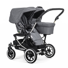 Double Viking 735 (Seat / Carrycot) 29909y Lounge Grey
